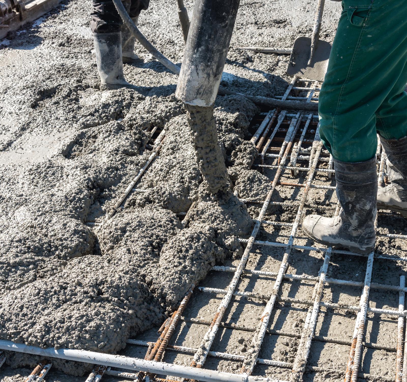 Pouring Concrete Slab Foundation