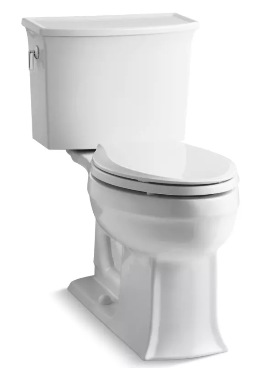 Newly Installed White Toilet