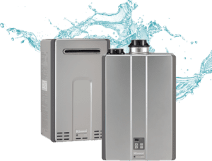 tankless water heater isolated