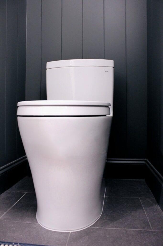 Vilma Iris Powder Bath Remodel Featuring Toto Toilet